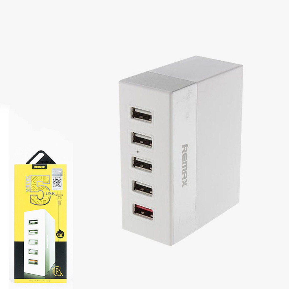 USB-концентратор Remax 5 Ports USB Charger Business Version RU-U1 6.2A White