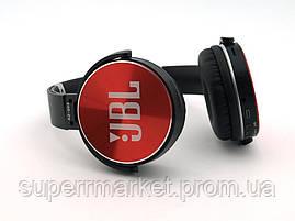 JBL AZ-009 копия, Bluetooth наушники с FM MP3, черные с красным, фото 2