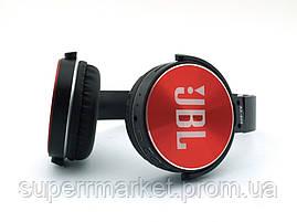 JBL AZ-009 копия, Bluetooth наушники с FM MP3, черные с красным, фото 3