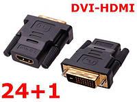 Переходник HDMI- DVI-D (24+1 pin) Duai Link, фото 1