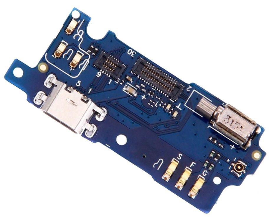 Шлейф Meizu M3s, M3s mini, с разъемом зарядки, с микрофоном, с вибро, плата зарядки