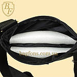 Мужская стильная сумка барсетка через плечо черная с серым  Ferrari Puma., фото 6
