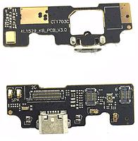 Шлейф Meizu U20 с разъёмом зарядки, с микрофоном, плата зарядки