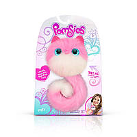 Интерактивная игрушка кошечка Лулу Помсис Pomsies Patches розовая с белым