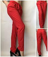 Летние женские брюки штаны молодежные Султанки А13 красные