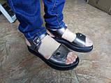 Комфортні шкіряні сандалі на платформі Milli Gold, фото 4