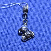 Серебряная подвеска-шарм Мишка 820-ч