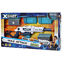 Zuru X-Shot Швидкострільний бластер - Excel Max Attack Clip Blaster- 100 Pieces Clip Value Pack