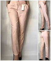 Летние женские брюки штаны молодежные Султанки А13 персиковый