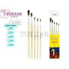 TZ 7676 Набор кистей из волоса пони, 5шт., № 1, 2, 3, 4, 5