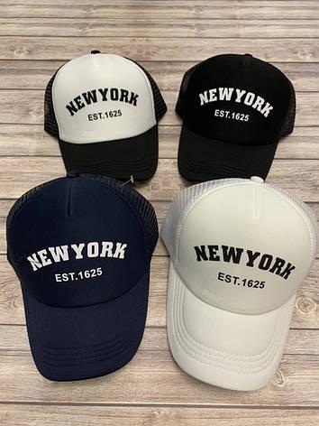 Подростковая кепка с сеткой для мальчика New York р.57-58, фото 2