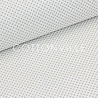 Бязь Горошки 3 мм бежевые на белом, фото 1