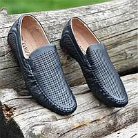 510689d6c Мужские летние туфли мокасины кожаные в дырочку (Код: 1460а)