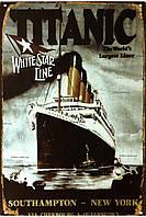 """Металлическая / ретро табличка """"Титаник (Корабль Мечты) / Titanic (The Ship Of Dreams)"""""""
