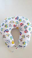 """Подушка для кормления младенца 90/90 """"Цветные совушки"""", фото 1"""