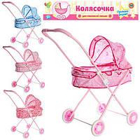 Детская коляска для куклы с металлическим каркасом Классика 882: 4 цвета