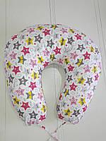 """Подушка для беременных и кормления малыша 90х90 в форме подковы """"Звезды"""", фото 1"""
