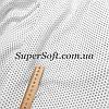 Ткань штапель принт мелкий черный горох на белом