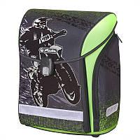 Ранец школьный Herlitz MIDI Motocross, для мальчиков, серый (50020461)