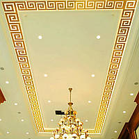 Декоративные зеркальные наклейки на стены «лабиринт мини». Интерьерные акриловые наклейки золото.