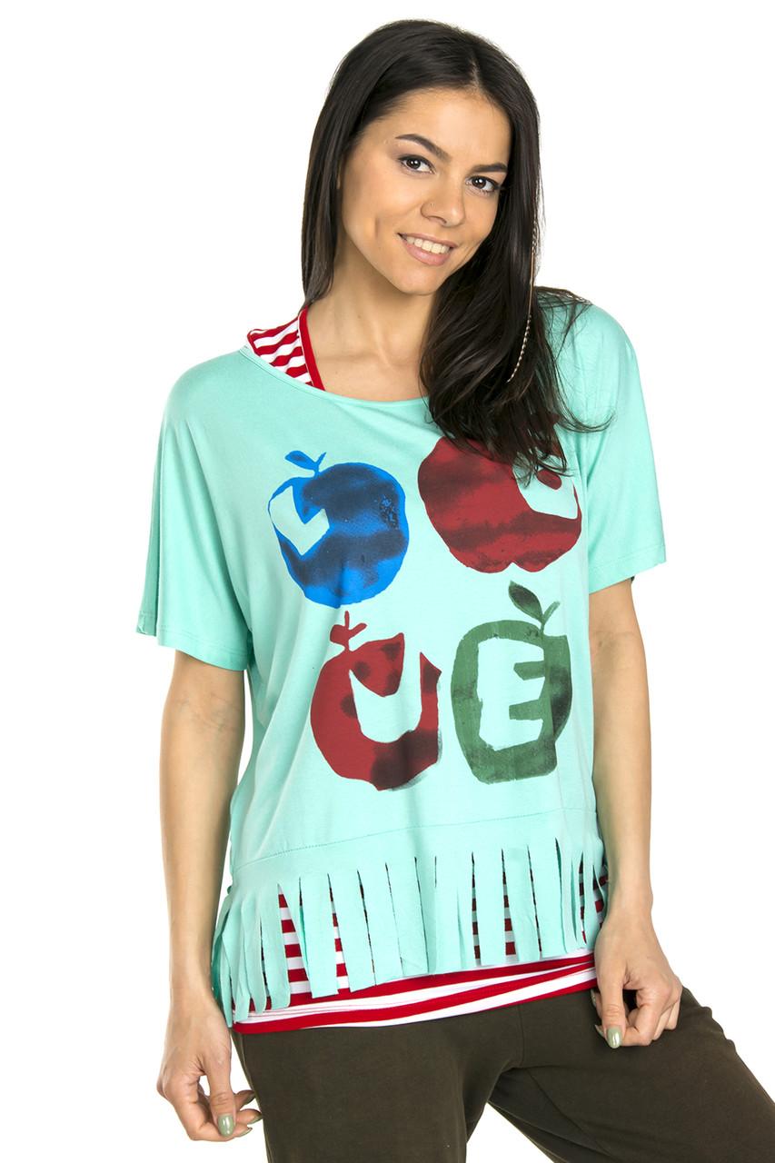 Молодежная футболка с майкой 44-48 (в расцветках)
