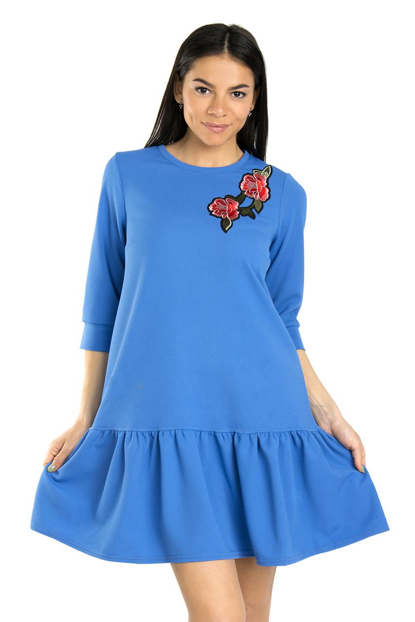 Свободное женское платье весна-лето 42-48 (в расцветках)