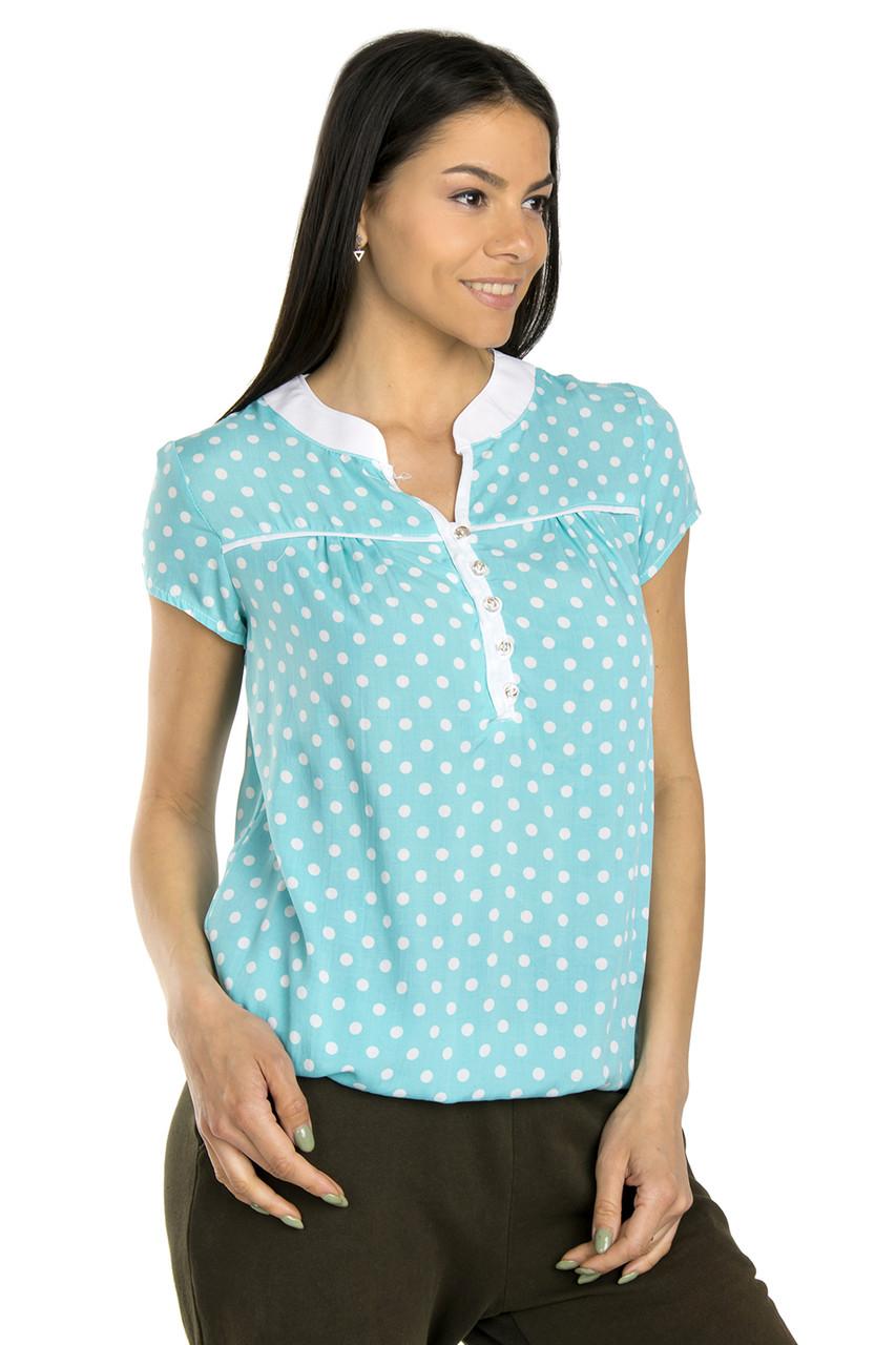 Летняя блузка из штапеля 42
