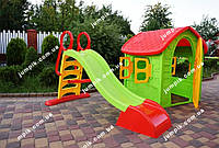 Дитячий будинок, будиночок, детский домик, дом Dorex 5075 + дитяча гірка, детская горка 180 см