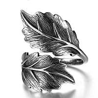 """Женское серебряное кольцо 4 грамма 925 пробы """"Magic leaves"""" с регулируемым размером, фото 1"""