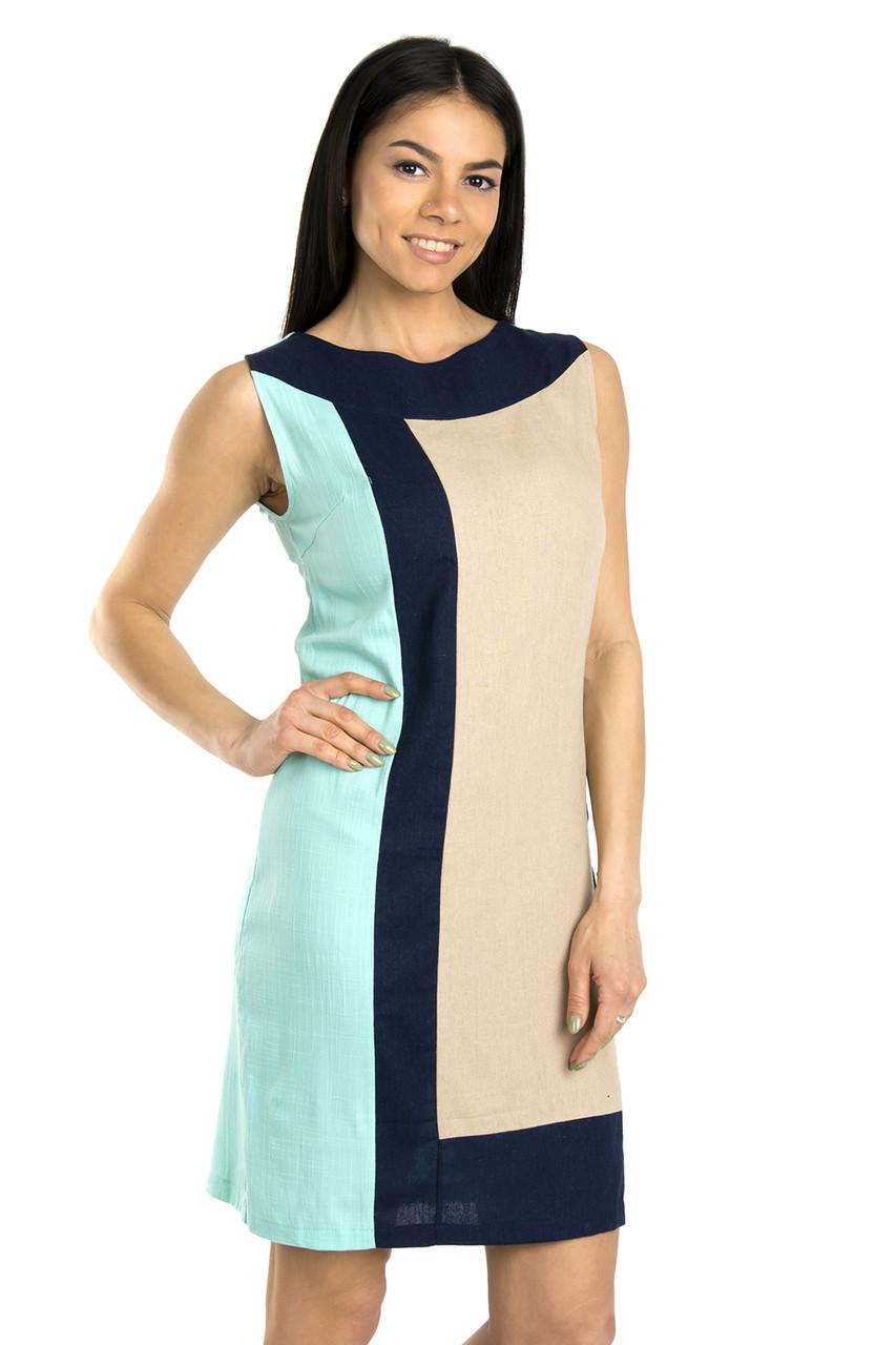 Стильное женское платье на лето 40-42 (в расцветках)