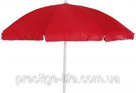Зонт диаметром 2,4 м с клапаном. Пластиковые спицы. Серебренное покрытие. Красный