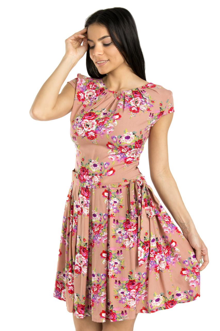 Женское платье из штапеля. Лето 42-44 (в расцветках)