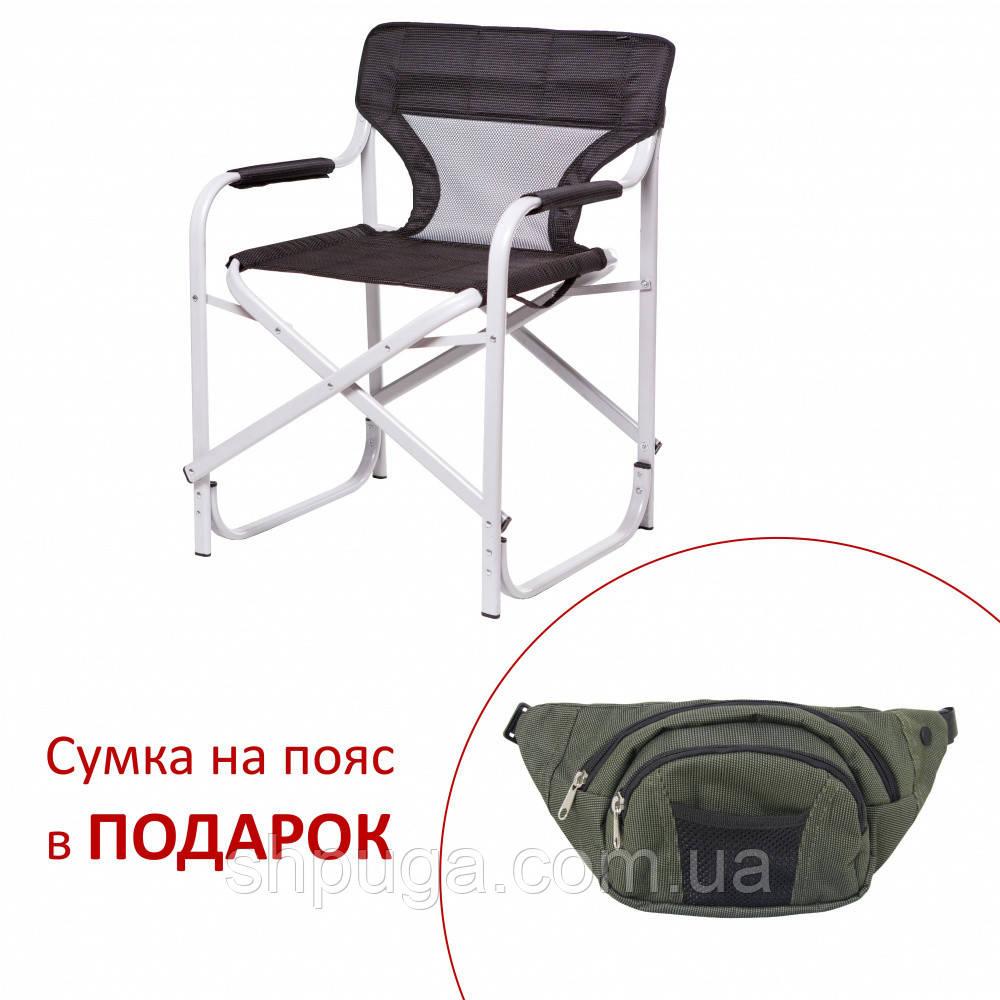 """Алюм Стул """"Режиссёрский"""" проф. труб. Черный"""