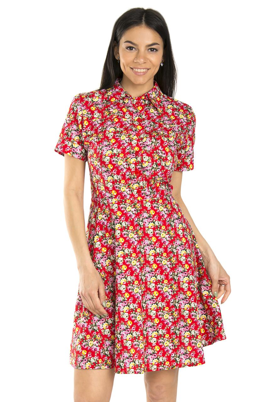 Яркие хлопковые платья на лето 42-48 (в расцветках)