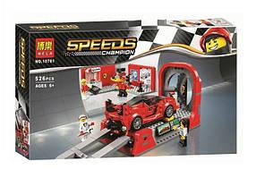 Конструктор Bela 10781 Чемпионы скорости Ferrari FXX K и Центр разработки (аналог Lego Speed Champions 75882)