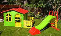 Дитячий будинок, будиночок, детский домик, дом Mochtoys + дитяча гірка, детская горка 180 см
