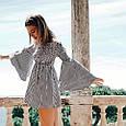 Платье женское с открытыми плечами в полоску, фото 5