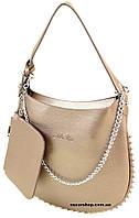 Классическая Сумка Женская ALEX RAI. Красивая модная сумка бронза. Кошелек в подарок!  ЖС03