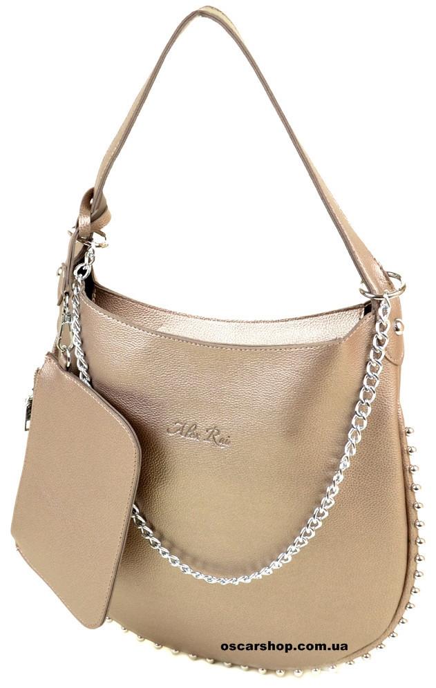 f76a697f Классическая Сумка Женская ALEX RAI. Красивая модная сумка бронза. Кошелек  в подарок! ЖС03