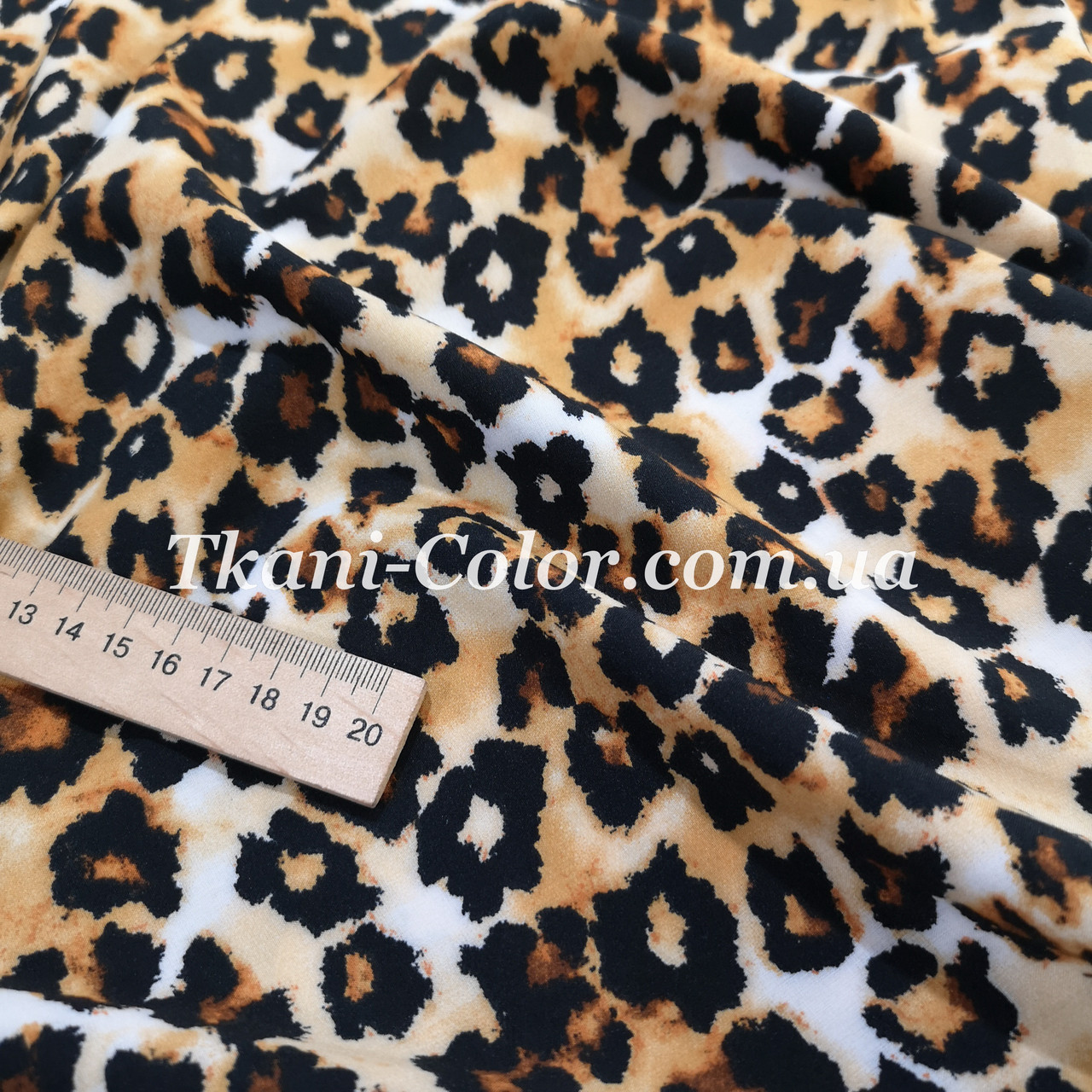 Ткань супер софт принт леопард
