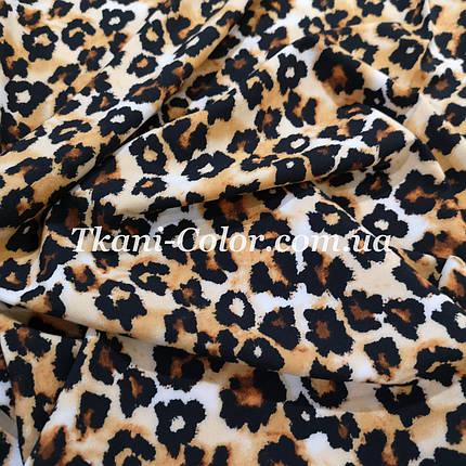 Ткань супер софт принт леопард, фото 2