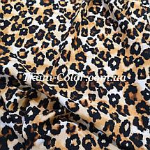 Ткань супер софт принт леопард, фото 3