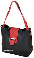 Женская кожаная сумка комплект с клатчем .Красива сумка длинном на ремне. СЛ11