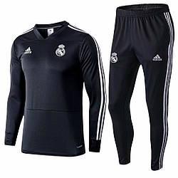 Детский Реал Мадрид черный костюм