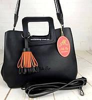 Классический женский портфель кожаный Alex Rai. Модная женская сумка ремень-пояс плечевой ремень. СЛ51