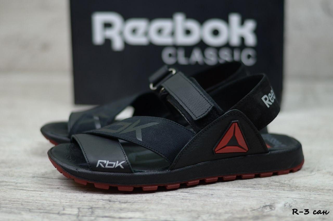 Мужские кожаные сандалии Reebok  (Реплика)  (Код: R-3 сан) ► [40,41,42,43,44,45]