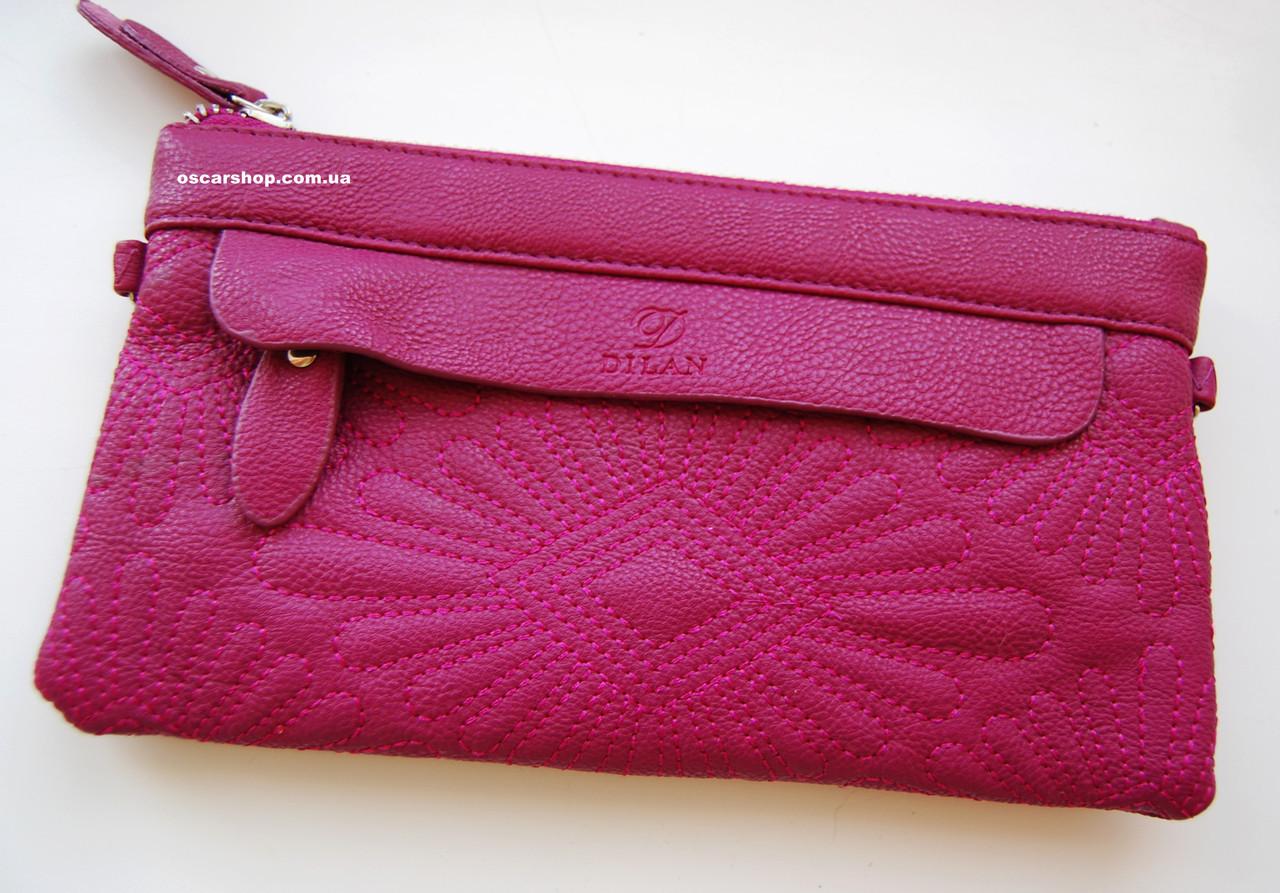 Кожаный женский клатч. Женский кожаный кошелек. Сумка конверт. СК303