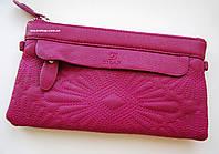 Кожаный женский клатч. Женский кожаный кошелек. Сумка конверт. СК303, фото 1