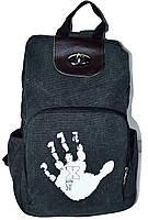 Женский рюкзак. Сумка рюкзак из холста. Мини рюкзак. МС11-1, фото 1