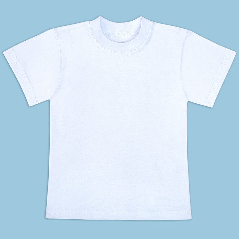 Детская футболка белая на мальчика хлопок 100% размер 28-36 РОСТОВКА